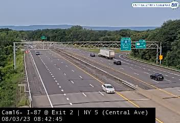 I-87 at Exit 2 (NY 5 - Central Avenue) Traffic Cam