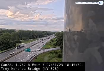 I-787 at Exit 7 (Menands Bridge, NY 378) Traffic Cam