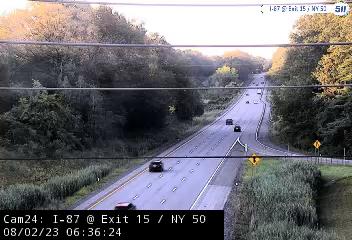 I-87 at Exit 15 (NY 50, Saratoga Springs) Traffic Cam
