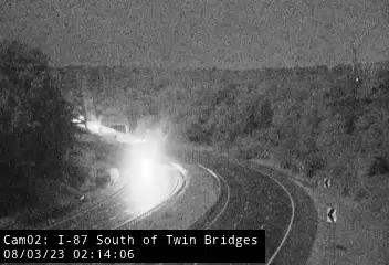 I-87 South of Mohawk River (Twin Bridges) Traffic Cam