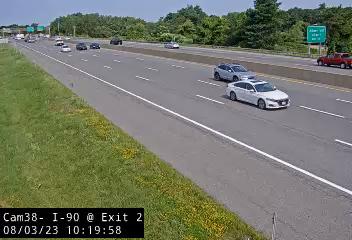 I-90 at Exit 2 Traffic Cam